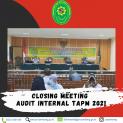 Closing Meeting Audit Internal TAPM Tahun 2021